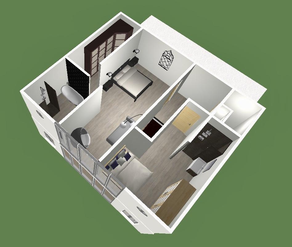 Aménagement étage échoppe (maison) 4 chambres avec jardin